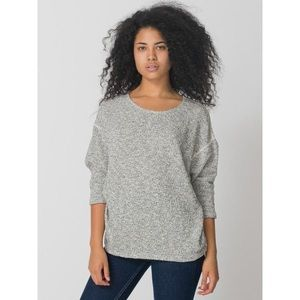 American Apparel Reversible Easy Sweater Grey O/S